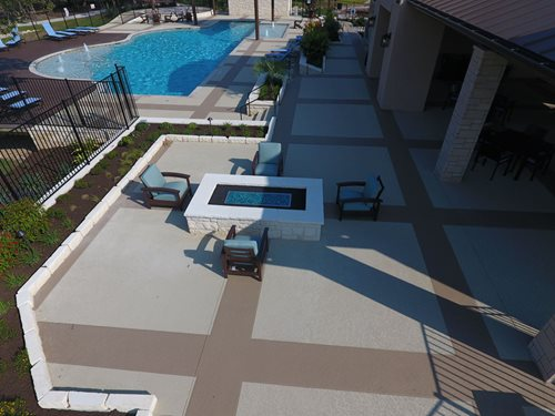 Commercial Pool Deck Classic Text Georgetown Tx Multi-Family SUNDEK Austin