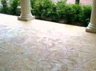 Concrete Repair with stamped overlay