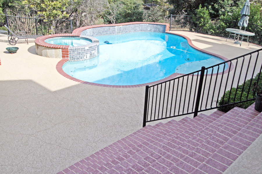 Pool Deck Paint Colors Pool Deck Paint I Used 120 Gallons Of Paint To Revive An Abandoned Pool