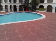 Colored Concrete Pool Deck