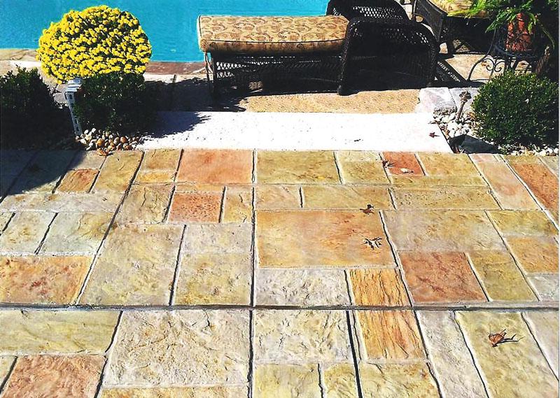 Stamped Concrete Sundek Overlay