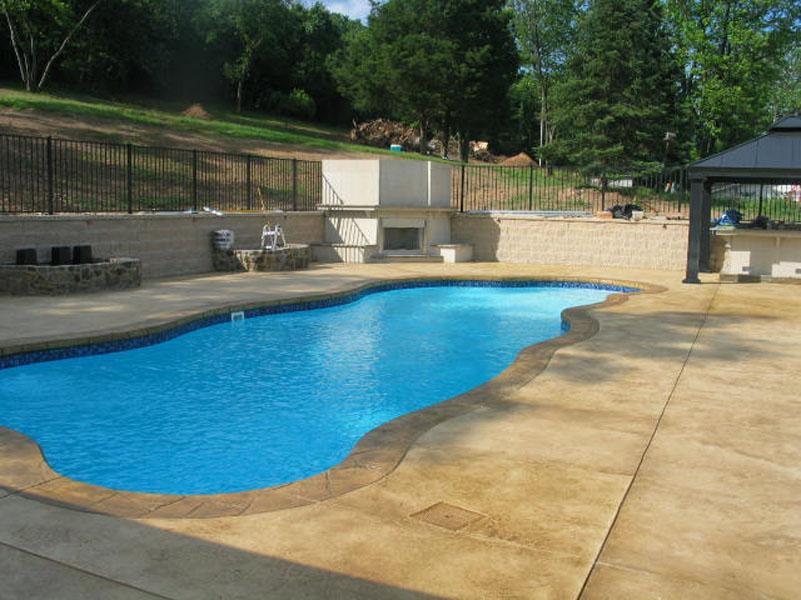 Decorative concrete around pool