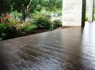 Tuscan wood plank stamped concrete