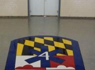 Fire Station Emblem on Concrete
