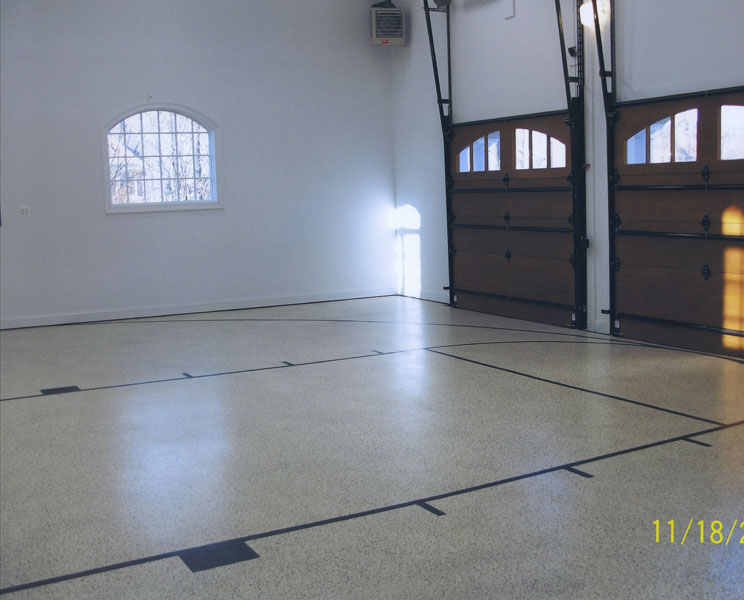 Epoxies polyaspartics sundek concrete coatings and for Basketball garage