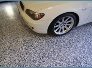 Garage floor system with BMW