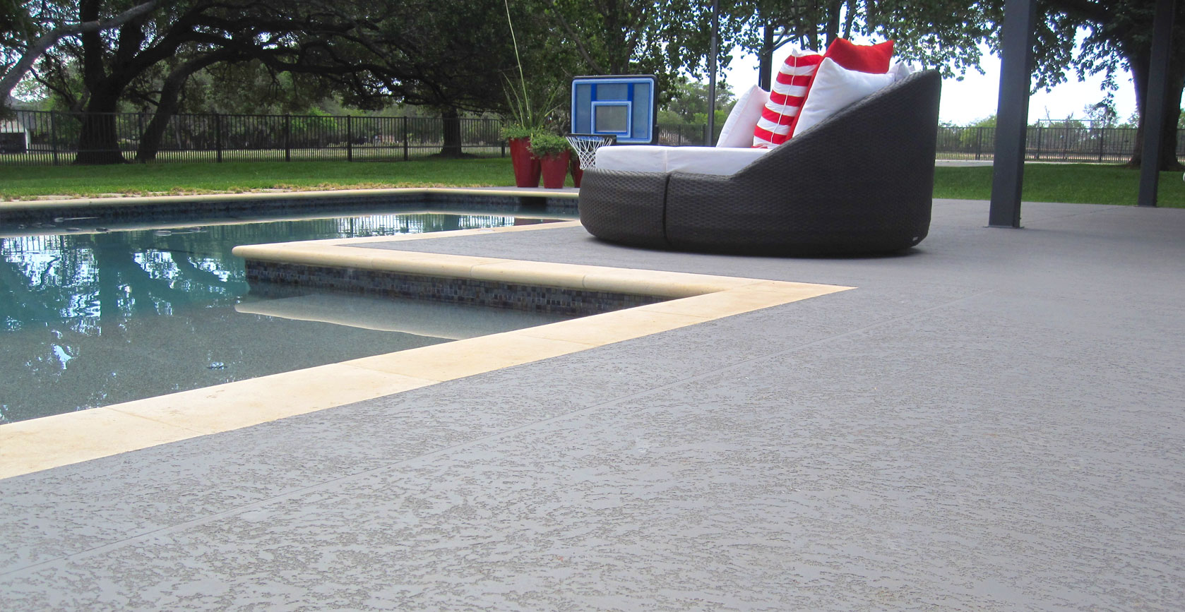 Concrete Overlay Pool Deck Pool Deck Surrounds  Sundek Concrete Coatings And Concrete Repair