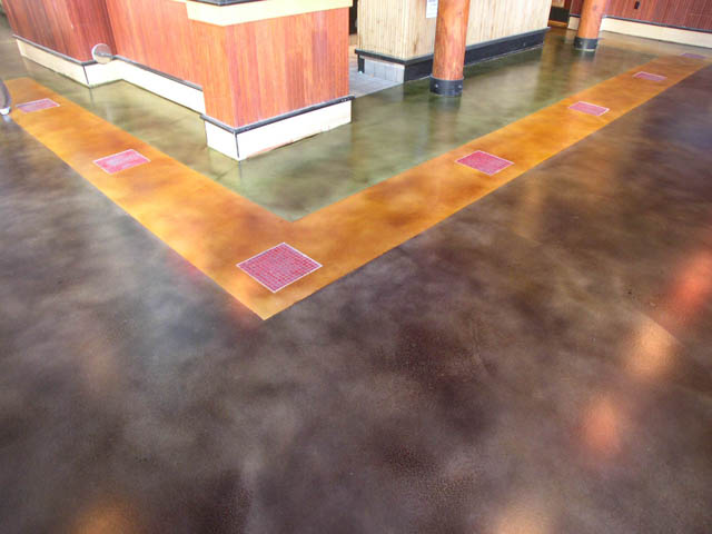 Stained Concrete at a Bar and Grill