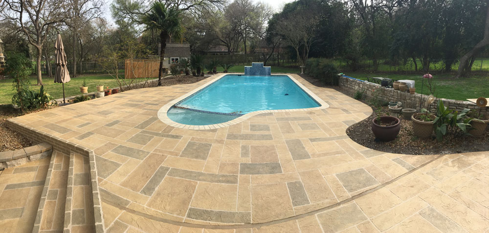 Stamped Concrete Patio and Pool Deck