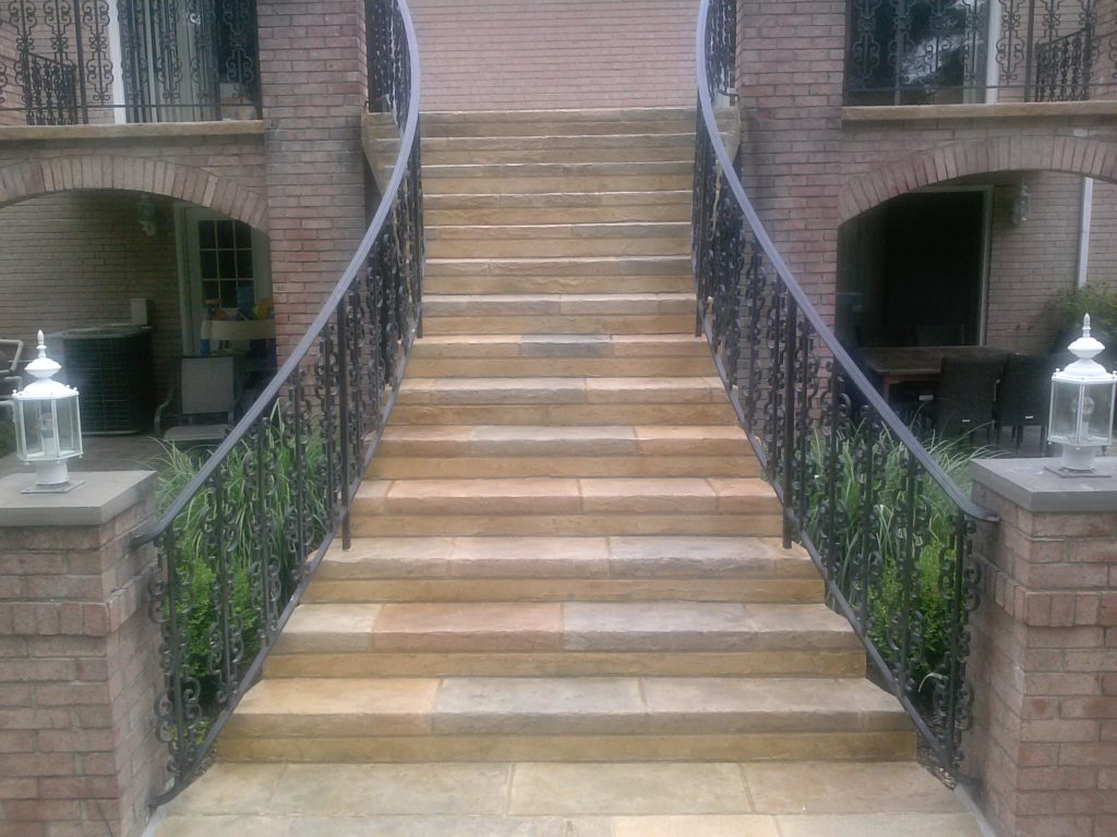 Concrete Walkways and Staircase