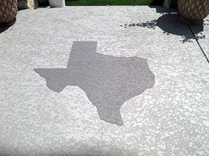 Texas concrete patio