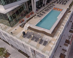 University of Texas pool deck