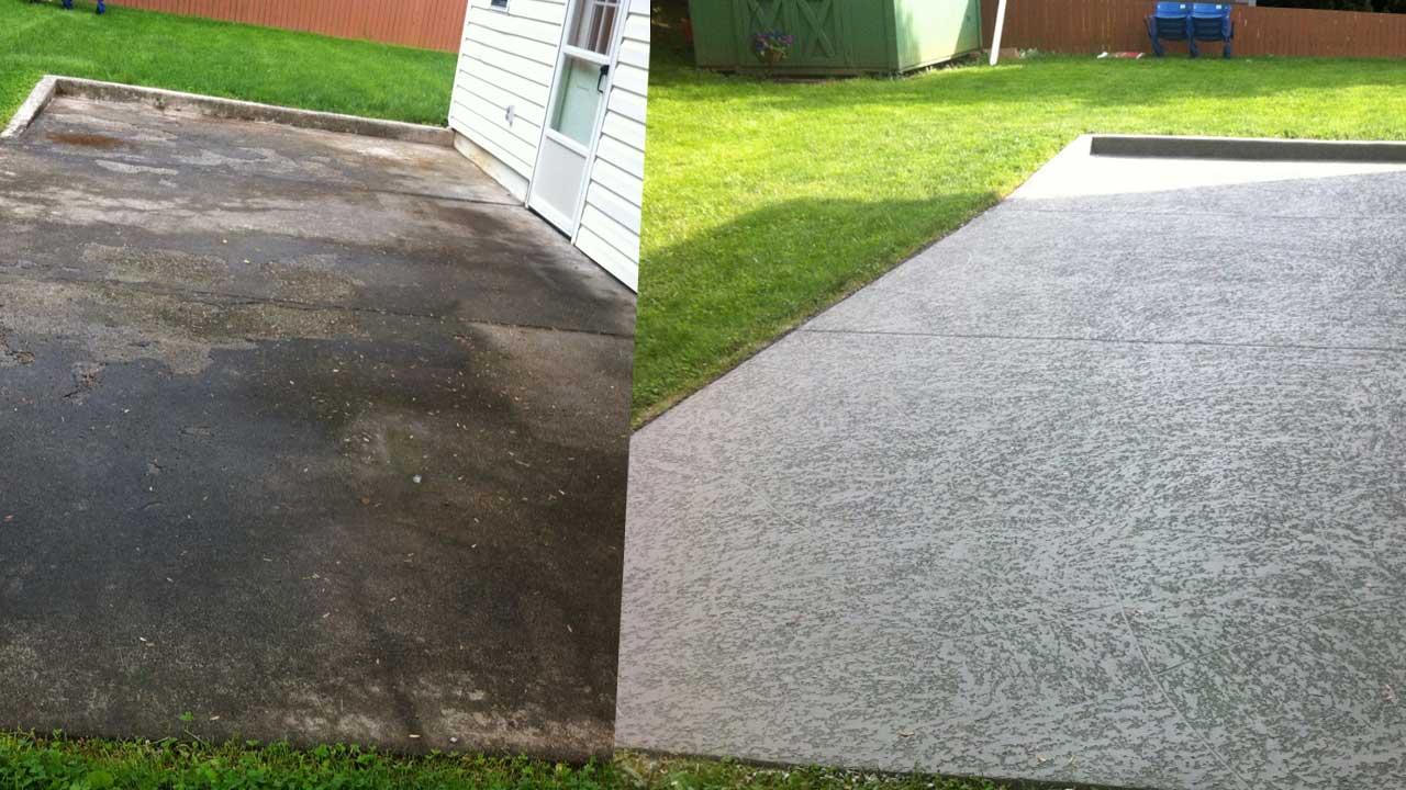 Concrete Rejuvenation On A Patio