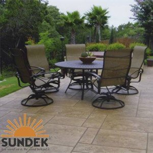 resurfaced concrete patio
