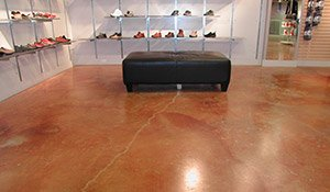 stained and polished concrete