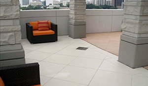 textured concrete patio