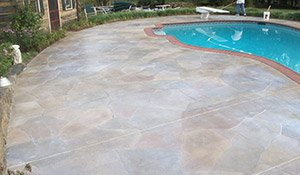 resurfaced pool deck